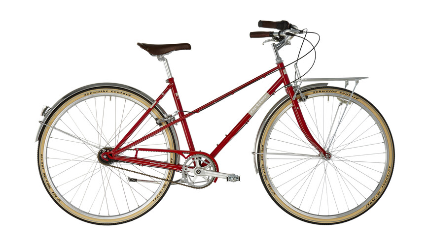 Ortler Bricktown Naiset kaupunkipyörä , punainen